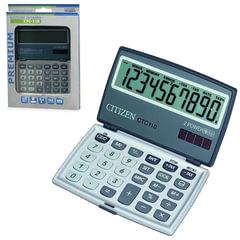 Калькулятор CITIZEN карманный CTC-110WB, 10 разрядов, двойное питание, 106x63 мм