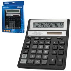 Калькулятор CITIZEN настольный SDC-888ХBK, 12 разрядов, двойное питание, 203х158 мм, черный