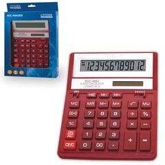 Калькулятор CITIZEN настольный SDC-888ХRD, 12 разрядов, двойное питание, 203х158 мм, красный