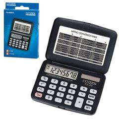 Калькулятор CITIZEN карманный FS-60BKII, 8 разрядов, двойное питание, 97х69 мм