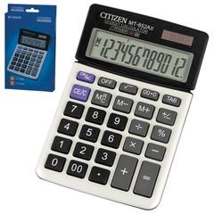 Калькулятор CITIZEN настольный MT-852AII, 12 разрядов, двойное питание, 160х104 мм