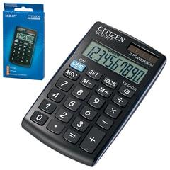 Калькулятор CITIZEN карманный SLD-377BP, 10 разрядов, двойное питание, 105х64 мм