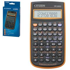 Калькулятор CITIZEN инженерный SR-260NOR, 10+2 разряда, питание от батарейки, 154х80 мм, оранжевый