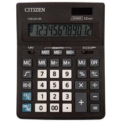 Калькулятор CITIZEN BUSSINESS LINE CDB1201BK, настольный, 12 разрядов, двойное питание, 157x200 мм
