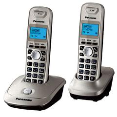 """Радиотелефон PANASONIC KX-TG2512 RUN+доп. трубка, память 50 ном., АОН, повтор, 10-100 м, """"платина"""""""