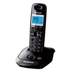 """Радиотелефон PANASONIC KX-TG2521RUT, память 50 номеров, АОН, повтор, автоответчик, 10-100 м, """"титан"""""""