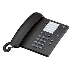 Телефон GIGASET DA 100, память на 14 номеров, повтор номера, тональный/импульсный набор, цвет антрацитовый