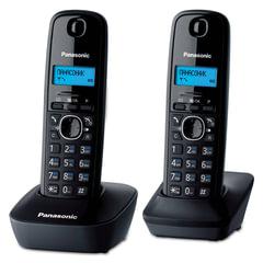 Радиотелефон PANASONIC KX-TG1612RUH + дополнительная трубка, память 50 номеров, АОН, будильник, радиус 10 - 100 м, цвет серый