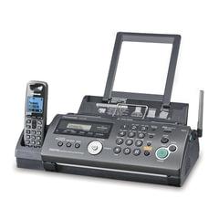 Факс PANASONIC KX-FC268RUT, обычная бумага 80 г/м2, А4, АОН, автоответчик, DECT-трубка