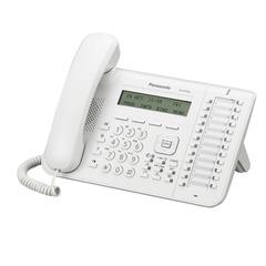 Телефон IP PANASONIC KX-NT543RU, повторный набор, часы/календарь, спикерфон, цвет белый