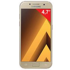 "Смартфон SAMSUNG Galaxy A3, 2 SIM, 4,7"", 4G (LTE), 8/13 Мп, 16 ГБ, microSD, золотой, сталь и стекло"