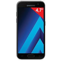 "Смартфон SAMSUNG Galaxy A3, 2 SIM, 4,7"", 4G (LTE), 8/13 Мп, 16 ГБ, microSD, черный, сталь и стекло"