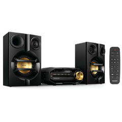 Музыкальный центр PHILIPS FX10/12, MP3-CD, CD-R/RW, FM-тюнер, mini jack 3,5 мм, 230 Вт, Bluetooth, черный
