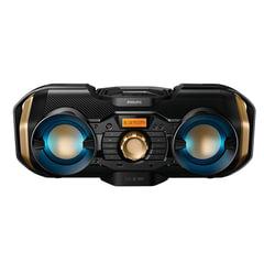 Магнитола PHILIPS PX840T/12, MP3-CD, CD-R/RW, USB, mini jack 3,5 мм, FM-тюнер, выходная мощность 50 Вт, черная
