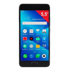"Смартфон MEIZU M5 NOTE M621H, 2 SIM, 5,5"", 4G, 5/13 Мп, 16 Гб, MicroSD, серый, металл"