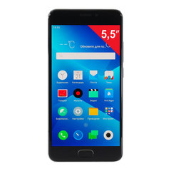 "Смартфон MEIZU M5 NOTE M621H, 2 SIM, 5,5"", 4G, 5/13 Мп, 32 Гб, MicroSD, серый, металл"