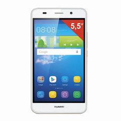 "Смартфон HUAWEI Y6 II CAM-L21, 2 SIM, 5,5"", 3G, 8/13 Мп, 16 Гб, MicroSD, белый, пластик"