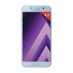 "Смартфон SAMSUNG Galaxy A5, 2 SIM, 5,2"", 4G (LTE), 16/16 Мп, 32 ГБ, microSD, голубой, сталь и стекло"