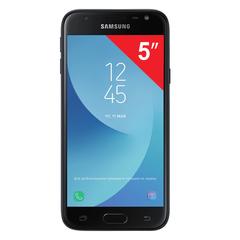 "Смартфон SAMSUNG Galaxy J3, 2 SIM, 5"", 4G (LTE), 5/13 Мп, 16 ГБ, microSD, черный, металл и стекло (2017)"