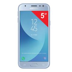"Смартфон SAMSUNG Galaxy J3, 2 SIM, 5"", 4G (LTE), 5/13 Мп, 16 ГБ, microSD, голубой, металл и стекло (2017)"