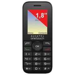 """Телефон мобильный ALCATEL One Touch 1016D, 2 SIM, 1,8"""", черный"""