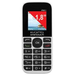 """Телефон мобильный ALCATEL One Touch 1016D, 2 SIM, 1,8"""", белый"""