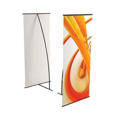 """Стенд мобильный для баннера """"L-banner А"""", размер рекламного поля 600х1600 мм, углепластик/алюминий"""