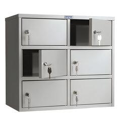"""Шкаф кассира ПРАКТИК """"AMB-45/6"""" на 6 отделений, 545х600х330 мм, ключевые замки, собранный"""