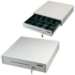 """Ящик денежный для кассира """"Меркурий М-100-12/24"""", электромеханический, 432х428х88 мм, отделений для монет - 8, для банкнот - 5"""