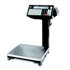 Весы с печатью этикеток МАССА-К ВПМ-32.2-Ф (0,1-32 кг), дискретность 10 г, платформа 340x245 мм, со стойкой
