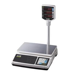 Весы торговые CAS PR-15Р (0,04-15 кг), дискретность 5 г, платформа 320х210 мм, со стойкой
