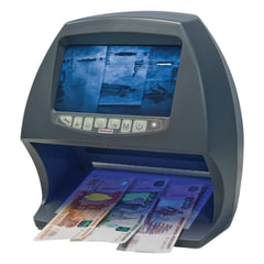 """Детектор банкнот DOCASH BIG D, ЖК-дисплей 18 см, просмотровый, ИК, УФ, антистокс, спецэлемент """"М"""""""