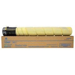 Тонер KONICA MINOLTA (TN-321Y) bizhub С224e/284e/364e, желтый, оригинальный, ресурс 25000 стр.