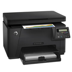 МФУ лазерное ЦВЕТНОЕ HP ColorLaserJet Pro M176n (принтер, сканер, копир), А4, 16 стр./мин., 20000 стр./мес., с/к (б/к USB)