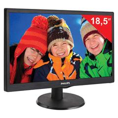 """Монитор LED 18,5"""" (47 см) PHILIPS 193V5LSB2/10, 1366x768, TN+film, 16:9, D-Sub, 200 cd, 5 ms, черный"""
