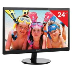 """Монитор LED 24"""" (61 см) PHILIPS 246V5LSB, 1920x1080, TN+film, 16:9, DVI, D-Sub, 250 cd, 5 ms, черный"""