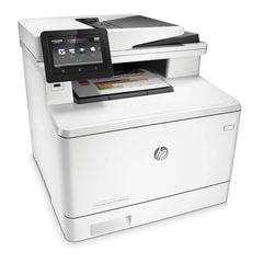 МФУ лазерное ЦВЕТНОЕ HP LaserJet Pro M477fnw (принтер, сканер, копир, факс), А4, 27 стр./мин, 50000 стр./мес., АПД, Wi-Fi, с/к