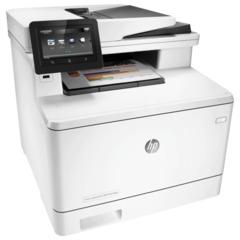 МФУ лазерное ЦВЕТНОЕ HP LaserJet Pro M477fdw (принтер, сканер, копир, факс), А4, 27 с./мин, 50000 с./мес, АПД, ДУПЛЕКС, с/к, Wi-Fi