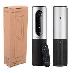 Веб-камера LOGITECH ConferenceCam Connect Silver, 10 Мпикс., USB 3.0/2.0, микрофон, автофокус