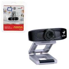 Веб-камера GENIUS Facecam 320, 0,3 Мп, микрофон, USB 2.0, регулируемый крепеж, черно-серебрянный