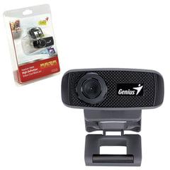Веб-камера GENIUS Facecam 1000X V2, 1 Мп, микрофон, USB 2.0, регулируемое крепление, черный