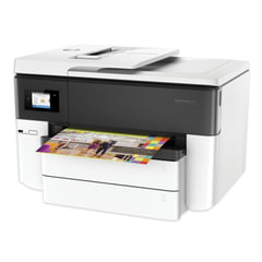МФУ струйное HP OfficeJet Pro 7740 (принтер, сканер, копир, факс), A3, 22 стр./мин, 30000 стр./м, 4800х1200, ДУПЛЕКС, WI-FI, с/к