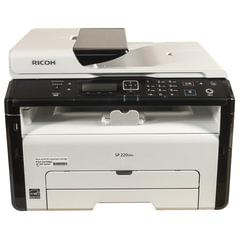 МФУ лазерное RICOH SP 220SNw (принтер, сканер, копир), А4, 23 стр./мин, 20000 стр./мес., Wi-Fi, сетевая карта, АПД