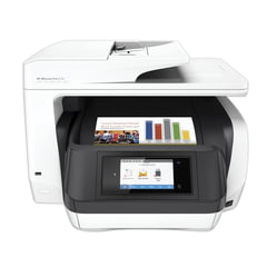 МФУ струйное HP OfficeJet Pro 8720 (принтер, сканер, копир, факс), А4, 4800х1200, 24 стр./мин, 30000 стр/мес ДУПЛЕКС АПД Wi-Fi с/к
