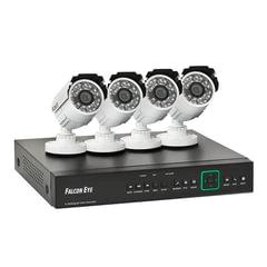 """Комплект видеонаблюдения FALCON EYE FE-104AHD KIT """"Дача"""", 4-х канальный, гибридный регистратор, 4 уличные камеры"""