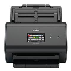 Сканер потоковый BROTHER ADS-2800W, А4, 1200х1200, 60 стр./мин., 3000 стр./день, АПД, сетевая карта, Wi-Fi (кабель USB в компл.)