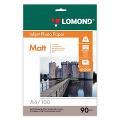 Фотобумага LOMOND для струйной печати, А4, 90 г/м2, 100 л., односторонняя, матовая, 0102001