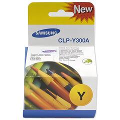 Картридж лазерный SAMSUNG (CLP-Y300A) CLP-300 и другие, желтый, оригинальный, ресурс 1000 стр.