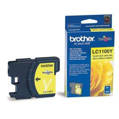 Картридж струйный BROTHER (LC-1100Y) DCP-6690CW/385C, MFC-990CW, желтый, оригинальный