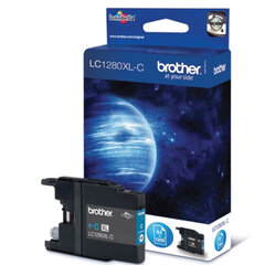 Картридж струйный BROTHER (LC1280XLC) MFC-J6510DW/J6910DW/J5910DW/J430W, голубой, оригинальный
